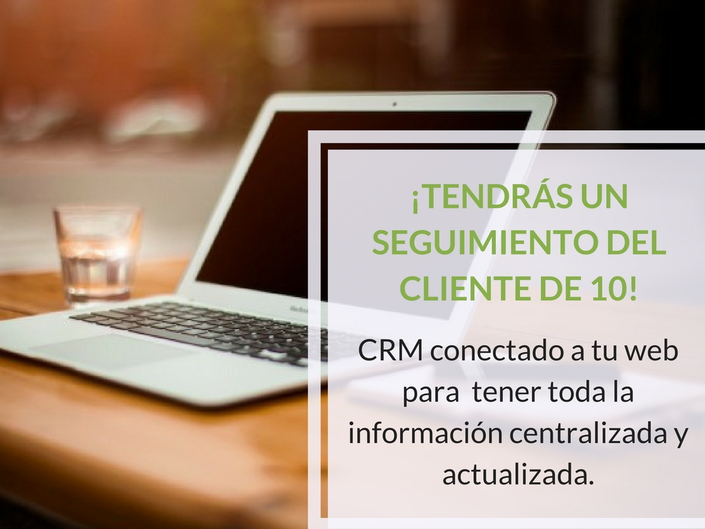 CRM contacto a web Wordpress