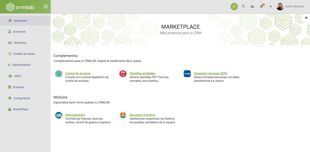 Averigua los beneficios del marketplace de CRMLab